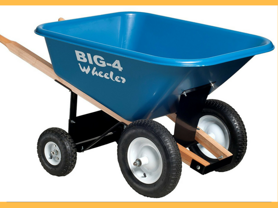 Best Heavy-Duty Big 4 Wheeler 8 Cubic Feet Wheelbarrow
