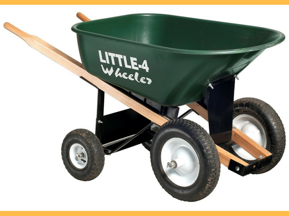 Heavy-Duty Big 4 Wheeler 6 Cubic Feet Wheelbarrow